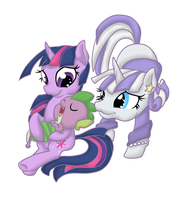 Twilight and Spike by Otterlore