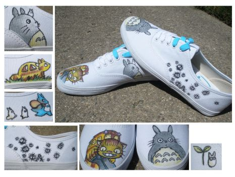 Totoro Shoes for my Friend Mary by Exclarmation