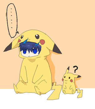 Rin And Pikachu by Ca14