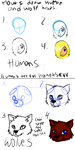 How I draw wolf and humans heads yo by WolfTiger98