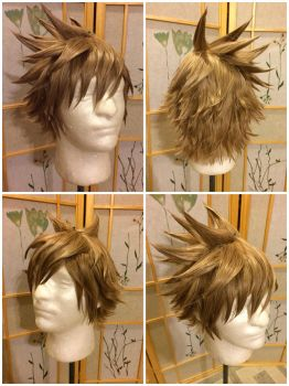 Roxas wig from Kingdom Hearts 2 by taiyowigs
