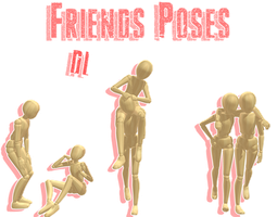 .:: MMD - Friends Poses ::. DL by MMDMikuxLen