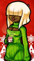 Happy Open-Sweater Christmas by zombielily