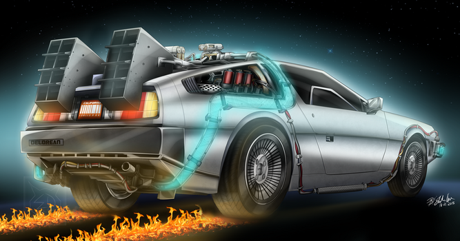 The DeLorean Time Machine by Lady-ElitaOne-Arts