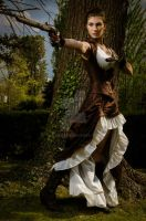 Steampunk corset and dress - 2012 collection '' by Esaikha