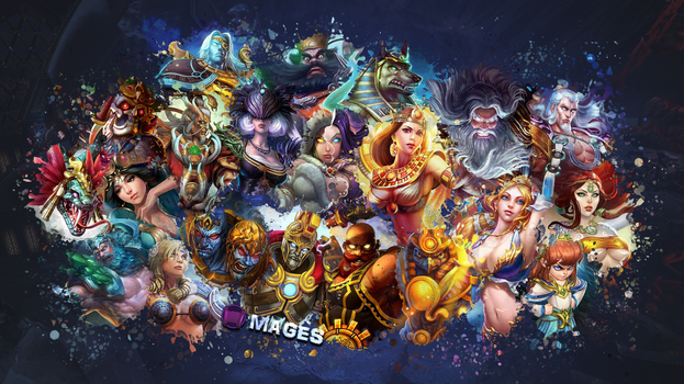 SMITE - Mages Wallpaper (Ah Puch Edition) by Getsukeii