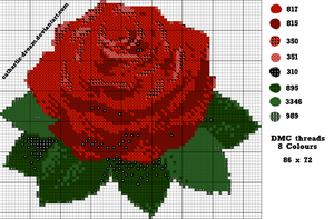 [Pattern] Rose by cathartic-dream