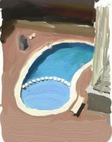 Pool in a spannish summerday by Utherdoll