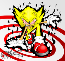 Fleetway Super Sonic by MylesAnimated