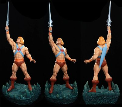 MOTU He-man 1/4 pre-painted statue by alterton