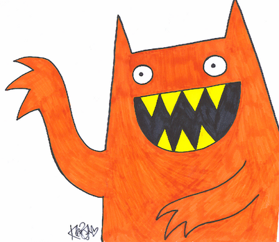 Happy Monster by Katastrophically