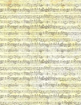 Textured Cream Sheet Music by FredtheCow-Stock