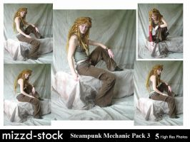 Steampunk Mechanic Pack 3 by mizzd-stock