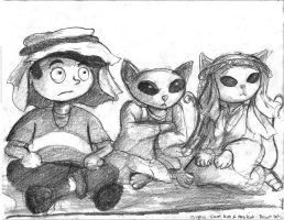 Coop, Kat and Dr K-Sketch by TheLivingShadow