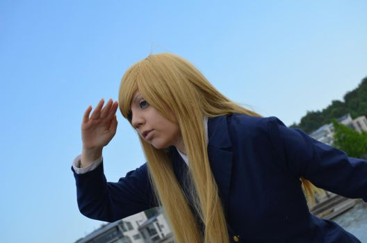 Looking for seagulls - K-ON! - Mugi by ViikateFretti
