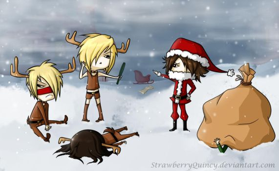Reita The Red Nosed Reindeer by StrawberryQuincy