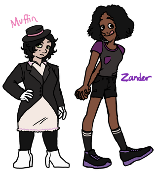 Muffin and Zander by pSarahdactyls