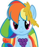 Rainbow Dash At the Gala Vector by Alexstrazse