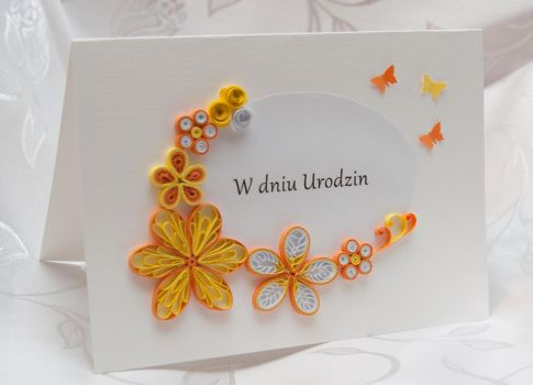 Handmade Birthday Card - quilling by Daria86