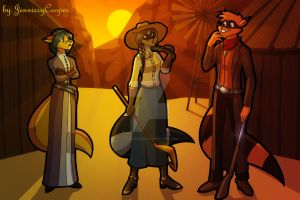 Sibling Thieves in Time - Wild West by JennissyCooper