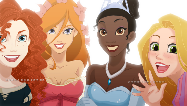 Disney Princesses by GothicIchigo