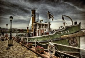 Boat on the River HDR by ISIK5