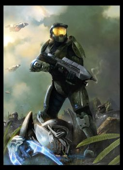 Halo, Master Chief - by DanLuVisiArt