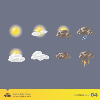Weather Vector Icons Pack 04 by sizer92