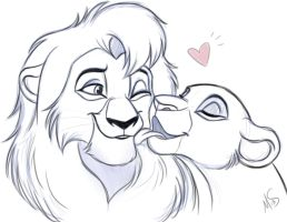 Kovu And Kiara by Miss-Melis
