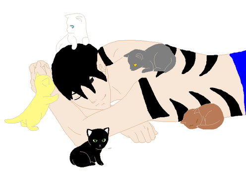 Pillion and his Cats by storks123abc
