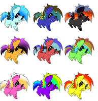 Pegisus adoptssss (TWO POINTS PER ADOPT) by MephiNo
