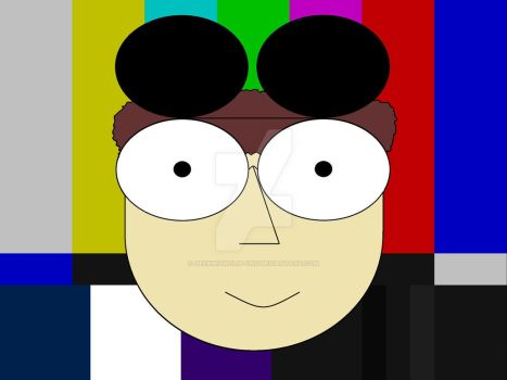 That Geek With The Clip-Ons Color Bars  Happy Face by GeekWithClip-Ons