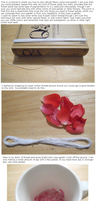 home made dying with rose petals tutorial by starsinmyteacup