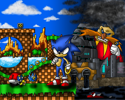 Sonic the Effin' Hedgehog by MolochTDL