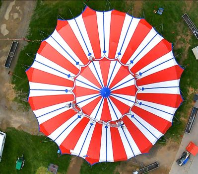 circus tent from above by rummsfeld
