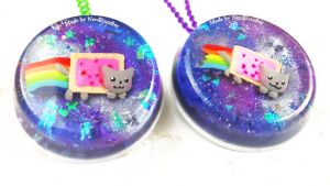 DIY Nyan Cat in Space Pendants by NerdEcrafter