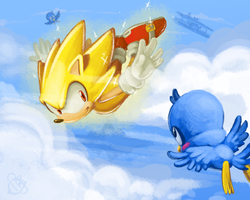 One Hour Sonic- Super Sonic by CatbeeCache