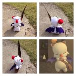 Final Fantasy Moogle Messenger Plush by shibblesgiggles01