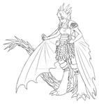Nadder Astrid Lineart by A-Foxi-Reminder