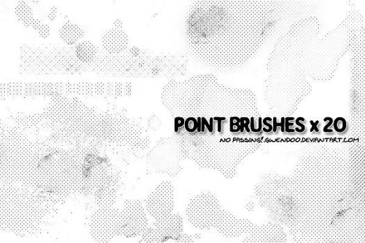 Point Grunge Brushes x20 by gwendo0