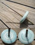 2nd Recycled Paper Whorl Drop Spindle by flufdrax