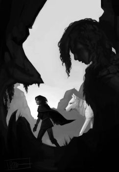 'You know nothing, Jon Snow.' by Paperwick