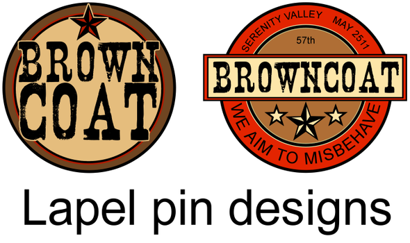 Browncoat Lapel Pin Designs by spearcarrier