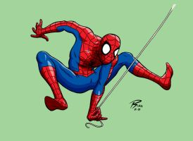 Partial Spiderman Commission by rianmiller