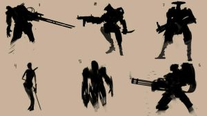 Mecha silhouettes by fusobotic