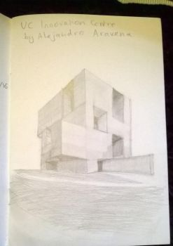 Sketch of the UC Innovation Centre by hannahmo61