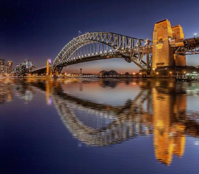 Sydney Harbour Bridge - Reflections by TarJakArt