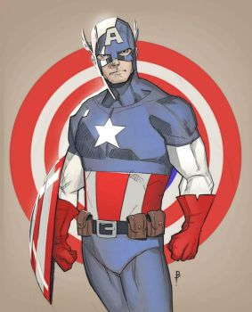 Captain america fanart by blackstyluss