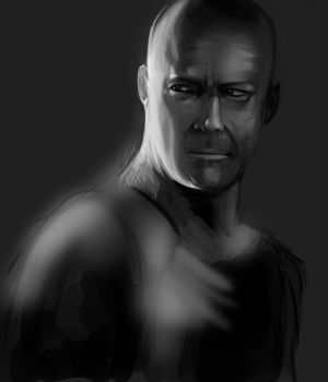 Rough Bruce Willis by herobaka