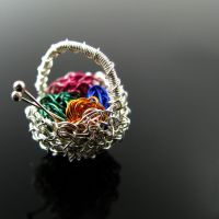 A knitter's basket by CatsWire